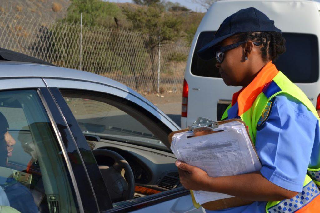 traffic enforcement roadblock